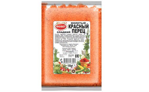 Перец красный сладкий молотый от Максима Астахова. 100 гр.