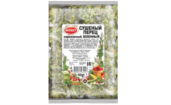 Перец зеленый сушеный нарезанный от Максима Астахова. 50 гр.