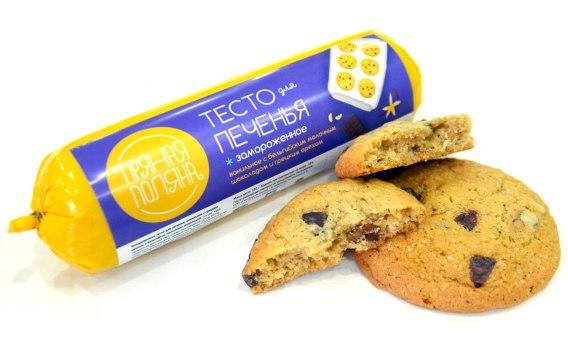 Тесто для печенья ванильное с грецким орехом и темным шоколадом от Марины и Виталия Михалко, 1 кг