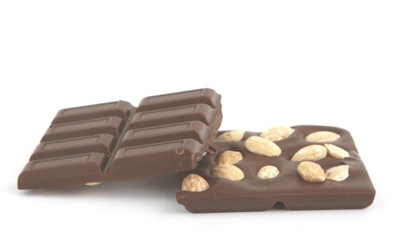 Шоколад молочный ГАНА с цельным миндалем 40% от Натальи Слепневой, 50 гр.