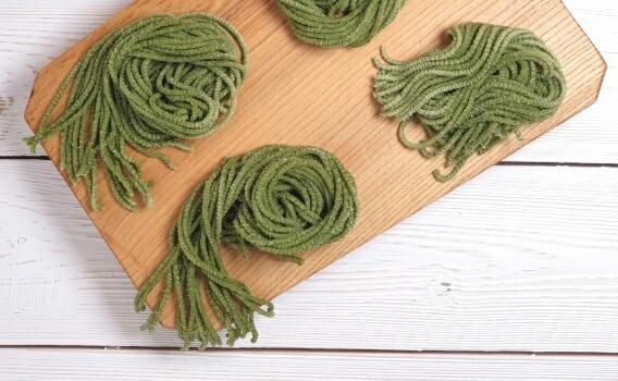Спагетти с шпинатом из твердых сортов пшеницы от Ольги Михайловой, 250 гр.