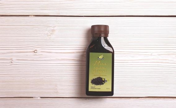 Масло черного кунжута нерафинированное, первый холодный отжим, от Сергея Пахомова, 0,1 л