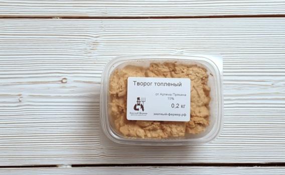 Творог из топленого молока от Артема Пряхина 15%, 0,2 кг