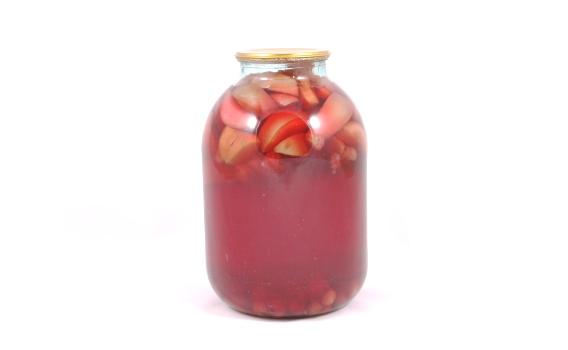 Компот яблочно - вишнево - малиновый от Татьяны Летуновой. 3 л