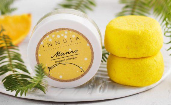 Шампунь твердый Манго для нормальных и сухих волос от Инны Асадуллиной, 50 гр.