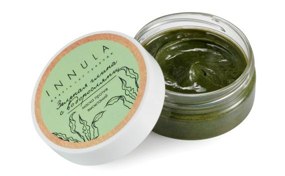 Маска для лица Зеленая глина с водорослями от Инны Асадуллиной, 70 гр.